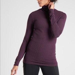 NWT Athleta XS Flurry Peak Turtleneck-Purple/Red